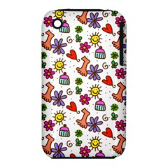 Doodle Pattern Apple iPhone 3G/3GS Hardshell Case (PC+Silicone)