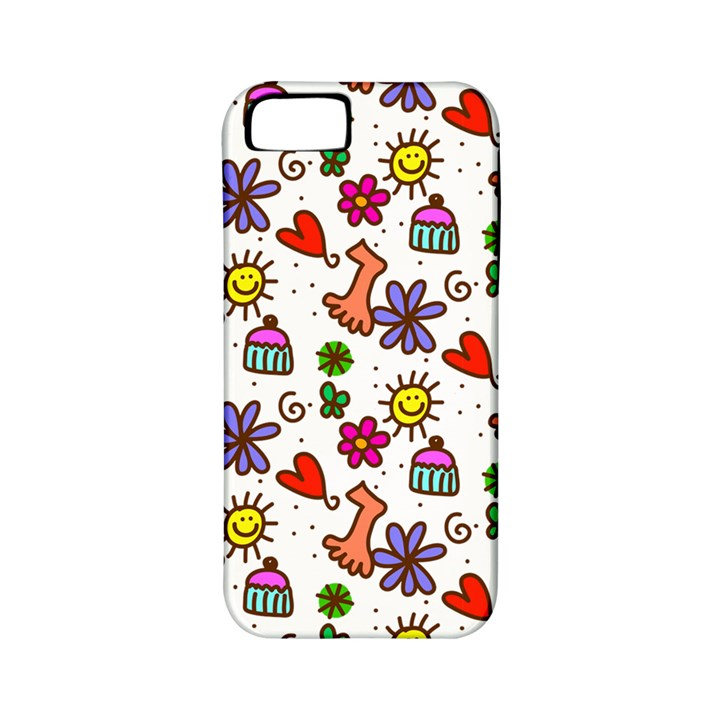 Doodle Pattern Apple iPhone 5 Classic Hardshell Case (PC+Silicone)