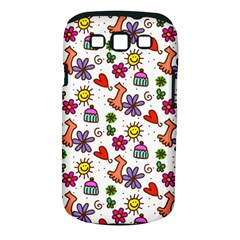 Doodle Pattern Samsung Galaxy S III Classic Hardshell Case (PC+Silicone)