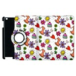 Doodle Pattern Apple iPad 3/4 Flip 360 Case Front
