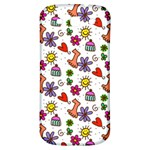 Doodle Pattern Samsung Galaxy S3 S III Classic Hardshell Back Case Front