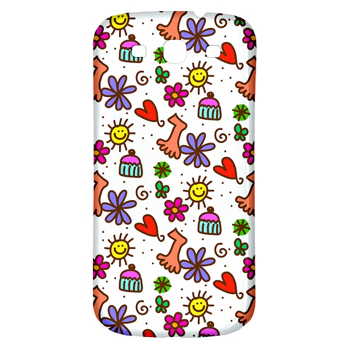 Doodle Pattern Samsung Galaxy S3 S III Classic Hardshell Back Case