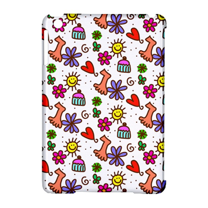 Doodle Pattern Apple iPad Mini Hardshell Case (Compatible with Smart Cover)