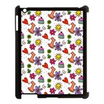Doodle Pattern Apple iPad 3/4 Case (Black) Front
