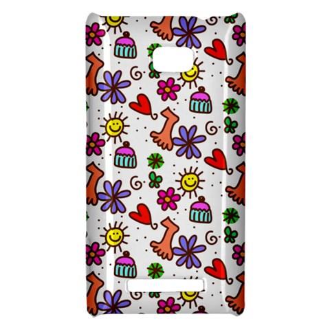 Doodle Pattern HTC 8X