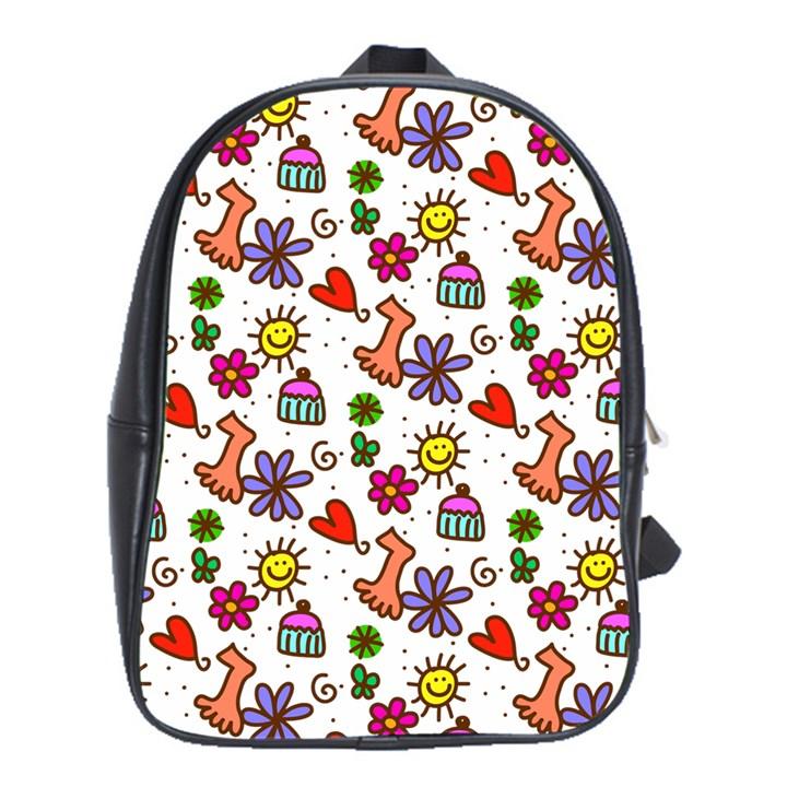 Doodle Pattern School Bags (XL)