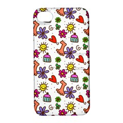 Doodle Pattern Apple iPhone 4/4S Hardshell Case with Stand