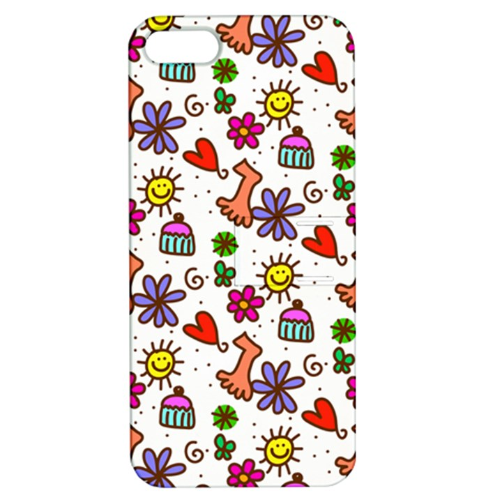 Doodle Pattern Apple iPhone 5 Hardshell Case with Stand