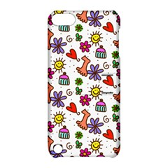 Doodle Pattern Apple iPod Touch 5 Hardshell Case with Stand