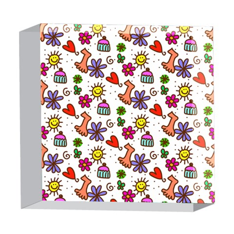 Doodle Pattern 5  x 5  Acrylic Photo Blocks