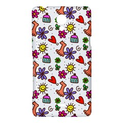 Doodle Pattern Sony Xperia T