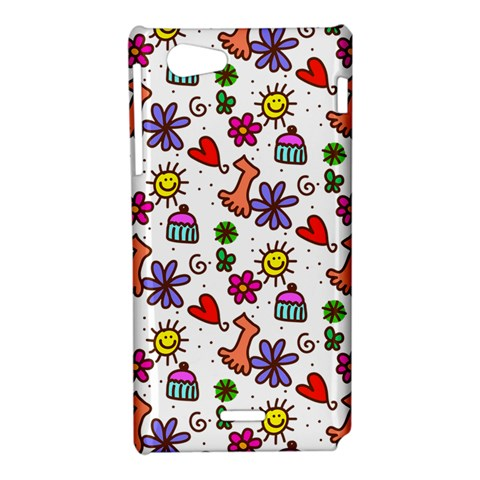 Doodle Pattern Sony Xperia J