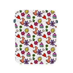 Doodle Pattern Apple iPad 2/3/4 Protective Soft Cases