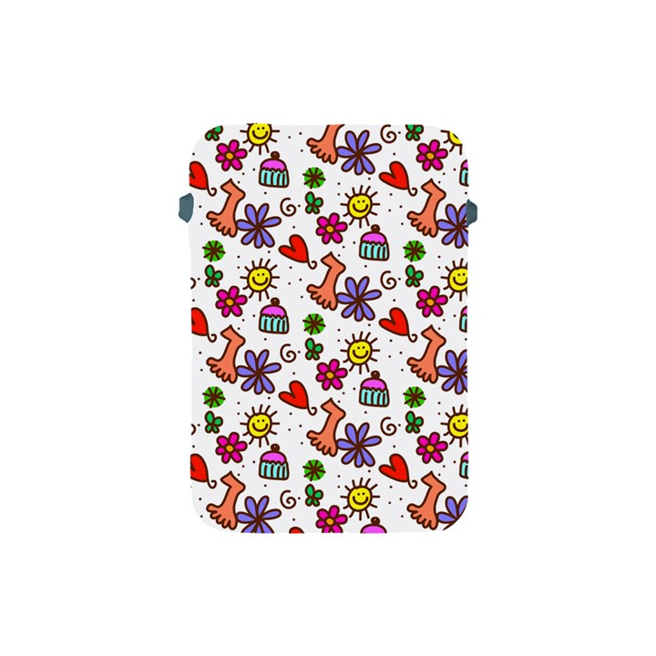 Doodle Pattern Apple iPad Mini Protective Soft Cases