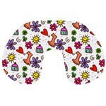 Doodle Pattern Travel Neck Pillows Front