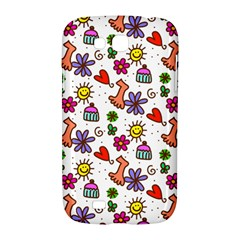 Doodle Pattern Samsung Galaxy Grand GT-I9128 Hardshell Case