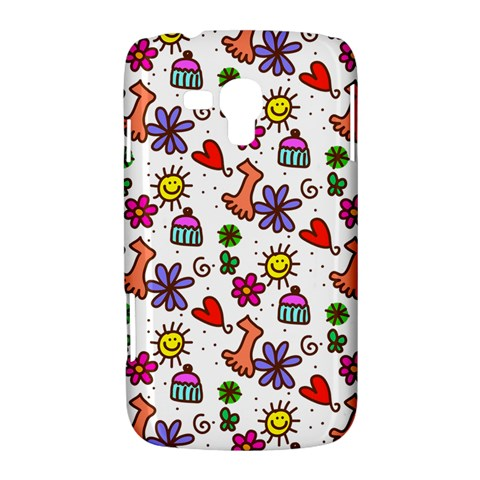 Doodle Pattern Samsung Galaxy Duos I8262 Hardshell Case