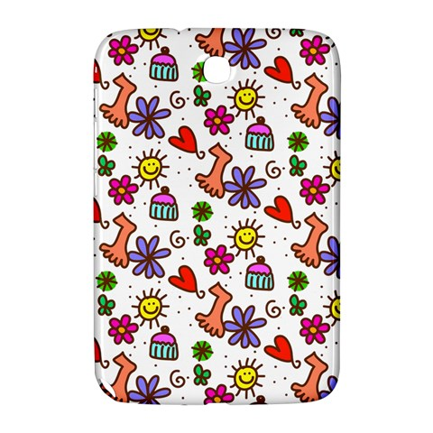 Doodle Pattern Samsung Galaxy Note 8.0 N5100 Hardshell Case