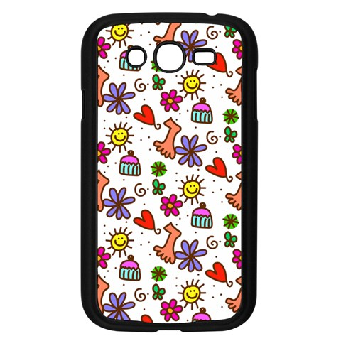 Doodle Pattern Samsung Galaxy Grand DUOS I9082 Case (Black)