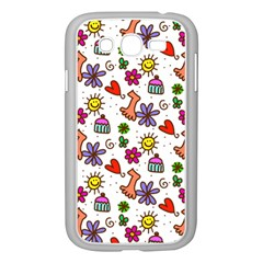 Doodle Pattern Samsung Galaxy Grand DUOS I9082 Case (White)