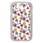 Doodle Pattern Samsung Galaxy Grand DUOS I9082 Case (White) Front