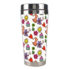 Doodle Pattern Stainless Steel Travel Tumblers
