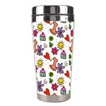 Doodle Pattern Stainless Steel Travel Tumblers Left