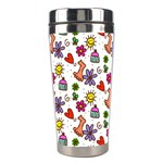 Doodle Pattern Stainless Steel Travel Tumblers Center