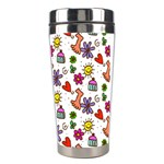 Doodle Pattern Stainless Steel Travel Tumblers Right