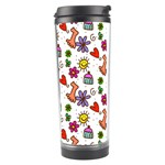 Doodle Pattern Travel Tumbler Right