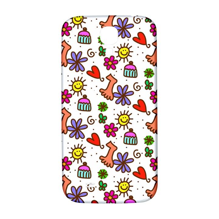 Doodle Pattern Samsung Galaxy S4 I9500/I9505  Hardshell Back Case