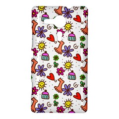Doodle Pattern Sony Xperia SP