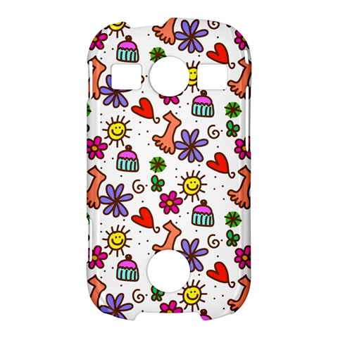 Doodle Pattern Samsung Galaxy S7710 Xcover 2 Hardshell Case