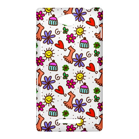 Doodle Pattern Sony Xperia C (S39H)