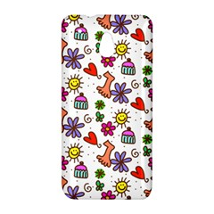 Doodle Pattern HTC One Mini (601e) M4 Hardshell Case