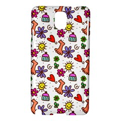 Doodle Pattern Samsung Galaxy Note 3 N9005 Hardshell Case