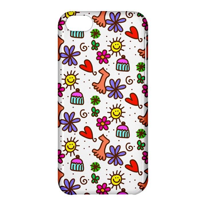 Doodle Pattern Apple iPhone 5C Hardshell Case