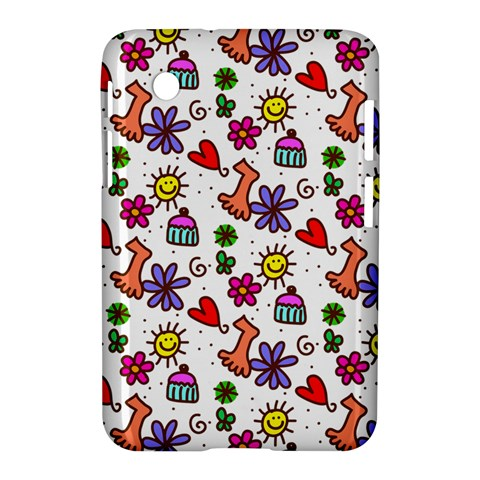 Doodle Pattern Samsung Galaxy Tab 2 (7 ) P3100 Hardshell Case