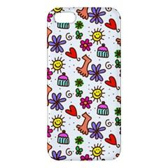 Doodle Pattern iPhone 5S/ SE Premium Hardshell Case