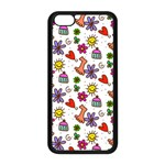 Doodle Pattern Apple iPhone 5C Seamless Case (Black) Front