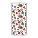 Doodle Pattern Apple iPhone 5C Seamless Case (White) Front