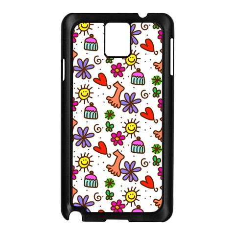 Doodle Pattern Samsung Galaxy Note 3 N9005 Case (Black)