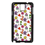 Doodle Pattern Samsung Galaxy Note 3 N9005 Case (Black) Front