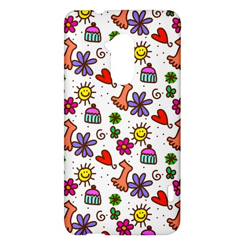 Doodle Pattern HTC One Max (T6) Hardshell Case