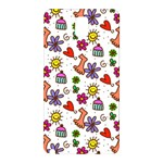 Doodle Pattern Samsung Galaxy Note 3 N9005 Hardshell Back Case Front