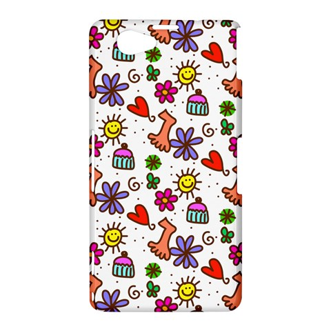 Doodle Pattern Sony Xperia Z1 Compact