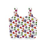 Doodle Pattern Full Print Recycle Bags (S)  Back