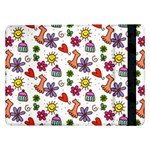 Doodle Pattern Samsung Galaxy Tab Pro 12.2  Flip Case Front