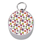 Doodle Pattern Mini Silver Compasses Front