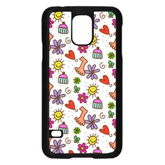 Doodle Pattern Samsung Galaxy S5 Case (Black)